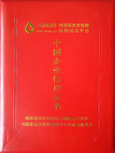 成都久盛鑫中国企业信用证书